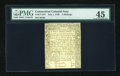 Colonial Notes:Connecticut, Connecticut July 1, 1780 5s Cut Cancelled PMG Choice Extremely Fine45....