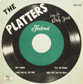 Music Memorabilia:Recordings, Platters Sing For Only You EP (Federal 378, 1956)....