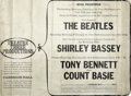 Music Memorabilia:Memorabilia, The Beatles Original Advertisement for 1964 Carnegie Hall Concerts....
