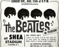 Music Memorabilia:Memorabilia, The Beatles Original Advertisement for 1965 Shea Stadium Concert....