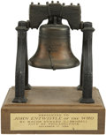 Music Memorabilia:Awards, The Who - John Entwistle's Liberty Bell Award....