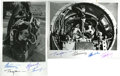 Autographs:Celebrities, Russian Space Dogs, Four Photographs Signed by Cosmonauts,including: Yuri Gagarin, Gherman Titov, Pavel Popovich, Andriyan... (Total: 4 Items)