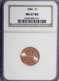 Lincoln Cents: , 1984 1C MS67 Red NGC. NGC Census: (46/3). PCGS Population (163/85).(#3059)...