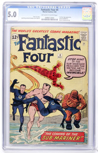 Fantastic Four #4 (Marvel, 1962) CGC VG/FN 5.0 Off-white to white pages