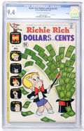 Bronze Age (1970-1979):Humor, Richie Rich Dollars and Cents #51 File Copy (Harvey, 1972) CGC NM 9.4 Off-white to white pages....