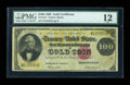 Large Size:Gold Certificates, Fr. 1214 $100 1882 Gold Certificate PMG Fine 12....