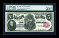 Large Size:Legal Tender Notes, Fr. 79 $5 1880 Legal Tender PMG Choice About Unc 58 EPQ....