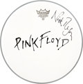 Music Memorabilia:Autographs and Signed Items, Nick Mason Signed Pink Floyd Drum Head....