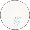 Music Memorabilia:Autographs and Signed Items, Charlie Watts Signed Drum Head....