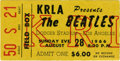 Music Memorabilia:Tickets, Beatles Dodger Stadium Concert Ticket Stub - August 28, 1966....