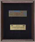 Music Memorabilia:Awards, Moody Blues Gold Ticket Award (1981)....