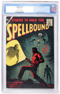 Golden Age (1938-1955):Horror, Spellbound #32 (Atlas, 1957) CGC VF- 7.5 Off-white to whitepages....