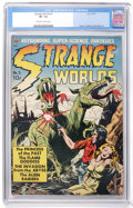 Golden Age (1938-1955):Science Fiction, Strange Worlds #3 (Avon, 1951) CGC VF- 7.5 Off-white to whitepages....