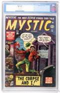 Golden Age (1938-1955):Horror, Mystic #14 (Atlas, 1952) CGC VF+ 8.5 Off-white pages....