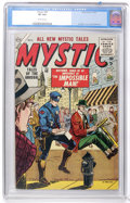 Golden Age (1938-1955):Science Fiction, Mystic #40 (Atlas, 1955) CGC VF 8.0 Off-white pages....