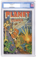 Golden Age (1938-1955):Science Fiction, Planet Comics #68 (Fiction House, 1952) CGC VF+ 8.5 Off-whitepages....