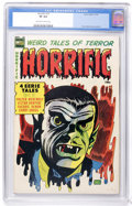 Golden Age (1938-1955):Horror, Horrific #13 (Comic Media, 1954) CGC VF 8.0 Off-white to whitepages....