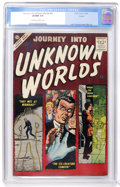 Silver Age (1956-1969):Horror, Journey Into Unknown Worlds #52 (Atlas, 1956) CGC VF/NM 9.0Off-white to white pages....