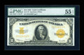 Large Size:Gold Certificates, Fr. 1173 $10 1922 Gold Certificate PMG About Uncirculated 55EPQ....