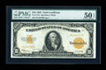 Large Size:Gold Certificates, Fr. 1173a $10 1922 Gold Certificate PMG About Uncirculated 50 EPQ....