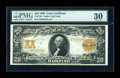 Large Size:Gold Certificates, Fr. 1183 $20 1906 Gold Certificate PMG Very Fine 30....