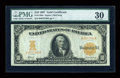 Large Size:Gold Certificates, Fr. 1169a $10 1907 Gold Certificate PMG Very Fine 30....