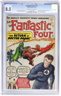 Silver Age (1956-1969):Superhero, Fantastic Four #10 (Marvel, 1963) CGC VF+ 8.5 Off-white to white pages....
