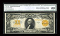 Large Size:Gold Certificates, Fr. 1187 $20 1922 Gold Certificate CGA Gem Uncirculated 66....