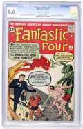 Silver Age (1956-1969):Superhero, Fantastic Four #6 (Marvel, 1962) CGC VF 8.0 Off-white to whitepages....