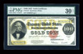 Large Size:Gold Certificates, Fr. 1215 $100 1922 Gold Certificate PMG Very Fine 30 Net....