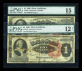 Large Size:Group Lots, Two Ornate Back Marthas.. ... (Total: 2 notes)