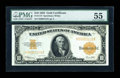 Large Size:Gold Certificates, Fr. 1173 $10 1922 Gold Certificate PMG About Uncirculated 55....