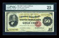 Large Size:Gold Certificates, Fr. 1193 $50 1882 Gold Certificate PMG Very Fine 25....