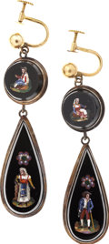 """Autographs:U.S. Presidents, [Mary Todd Lincoln] Pair of Pendant Earrings Owned by Mary ToddLincoln. These """"earbobs"""" appear to be made of gold-mounted b...(Total: 2 Items)"""