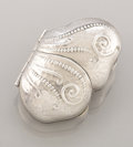 Silver Smalls:Snuff Boxes, AN AMERICAN SILVER SNUFF BOX. Whiting Manufacturing Company, NewYork, New York, circa 1880. Marks: (W with griffin),...