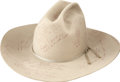 Movie/TV Memorabilia:Costumes, Glenn Ford's This is Your Life Cowboy Hat.... (Total: 2Items)