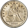 Seated Quarters, 1842-O 25C Large Date MS64 PCGS....
