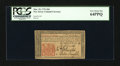 Colonial Notes:New Jersey, New Jersey March 25, 1776 18d PCGS Very Choice New 64PPQ....