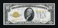 Small Size:Gold Certificates, Fr. 2400 $10 1928 Gold Certificate. Very Fine-Extremely Fine.. ...