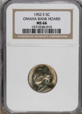 Jefferson Nickels: , 1952-S 5C MS66 NGC. NGC Census: (210/30). PCGS Population (88/0). Mintage: 20,572,000. Numismedia Wsl. Price for NGC/PCGS c...