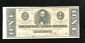Confederate Notes:1864 Issues, T71 $1 1864. This note was endorsed by Isaac Asbury Clarke. It has a small corner fold. Choice About Uncirculated....