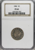 Proof Liberty Nickels: , 1886 5C PR65 NGC. Many collectors turn to the proof issue linked with a key date for the series, accepting it as a substitu...