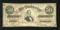 Confederate Notes:1864 Issues, T66 $50 1864. The edges are sound on this evenly circulated Jeff Davis $50. Fine-Very Fine....
