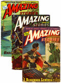 Pulps:Science Fiction, Amazing Stories Group (Ziff-Davis, 1944-49) Condition: AverageVG.... (Total: 8)