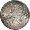 Bust Half Dollars: , 1814 50C MS64 PCGS. O-109, R.2. A well-detailed example with ivorymint frost that is accented by rose, green, and iridesce...
