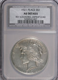 Peace Dollars: , 1921 $1 --Improperly Cleaned, Reverse Scratched--NCS. AU Details.NGC Census: (110/8751). PCGS Population (204/10539). Minta...
