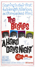 Music Memorabilia:Posters, Beatles Hard Day's Night Movie Poster....