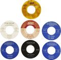 Music Memorabilia:Recordings, Various Rare Surf Instrumental 45s, Group of 7 (Various, 1961-66).... (Total: 7 Items)