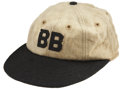 "Baseball Collectibles:Uniforms, 1927-28 Babe Ruth Game Worn ""Bustin' Babes"" Barnstorming Cap...."