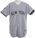 Baseball Collectibles:Uniforms, 2001 Mariano Rivera Game Worn Jersey with World Series Patch....